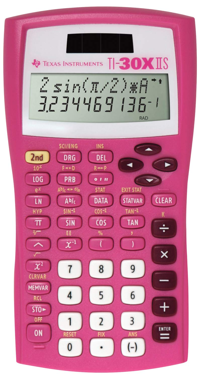 Texas Instruments TI-30X IIS Scientific Calculator - Pretty Pink by Texas Instruments