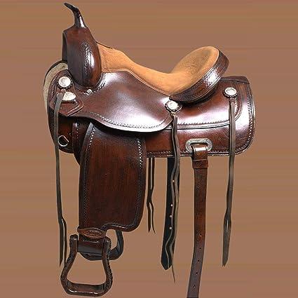 Amazon com : HILASON 16'' Used Horse Saddle TREELESS Western