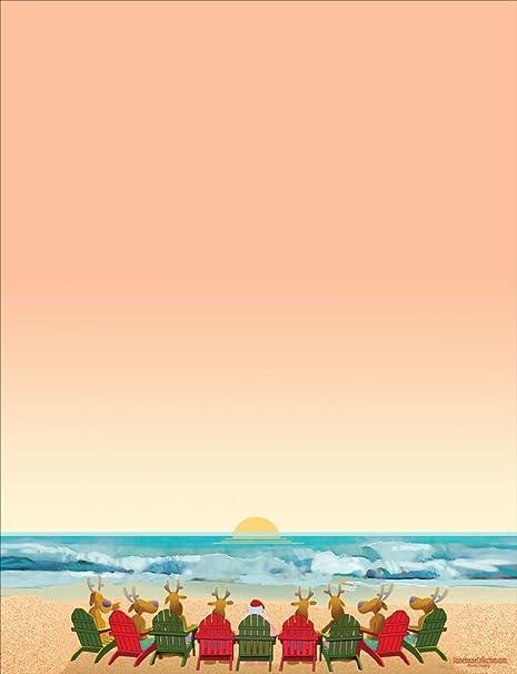 Christmas Beach.Beach Holiday Stationery 8 5 X 11 60 Christmas Beach Letterhead Sheets Beach
