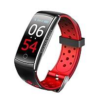 KOSCHEAL Smart Watch tipo Pulsera Fitband, Monitor de Presión arterial, Monitor de Oxígeno de sangre, Contador de movimiento,Compatible con Android y iOS. Reloj Inteligente Deportivo tipo Fitbit - ROJO