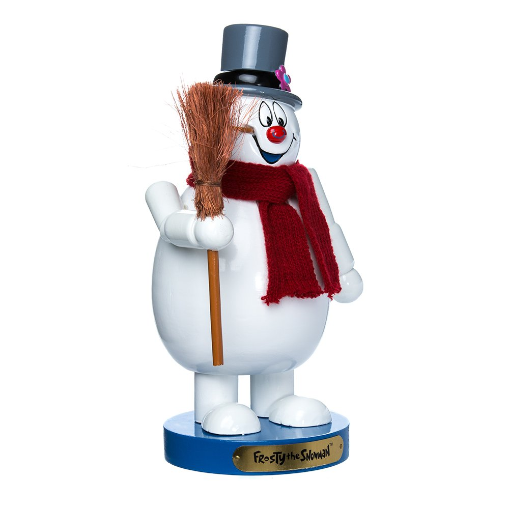 Kurt Adler 10'' Wooden Frosty the Snowman Nutcracker