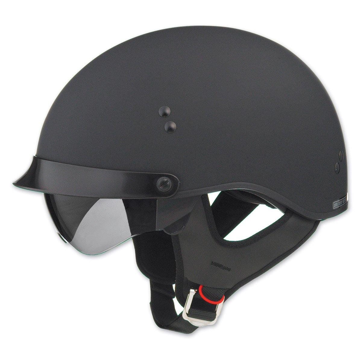 Gmax GM65 Full Dress Flat Black Half Helmet, M