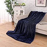 Soffte Cloud Supper Soft Weighted Fleece Blanket Throw Thick Cozy Warm Blanket on Bed Sofa Royal Blue(39 by 63 inches)