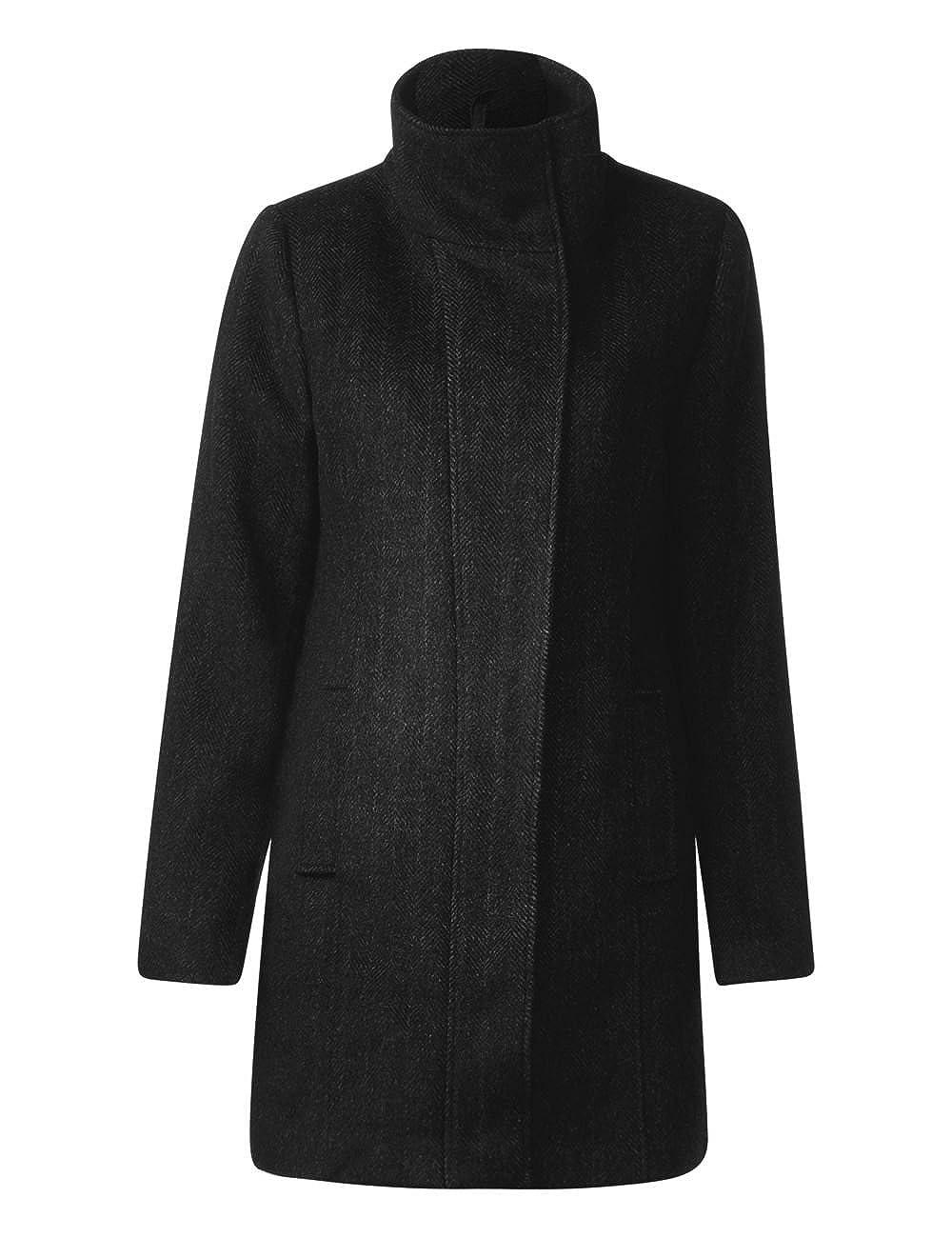taglia Donna Giubbotto 10001 black serena Melange Ojp One Produttore Nero Coat Wool 40 46 Street ZvH8W