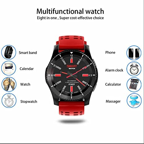 Reloj Inteligente Smartwatch Wifi Bluetooth 4.0 Reloj Deportiva HD Pantalla Análisis de Sueño, Podómetro,