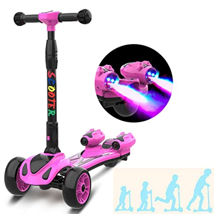 PIAOL Patinete para Niños Kick Scooter Monopatín Wheel ...