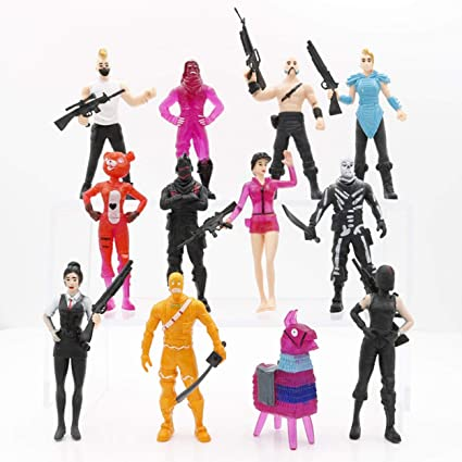 Lorenlli 12 piezas Juego de juguete con personajes de Fortnite Figura de juego Modelo de juego