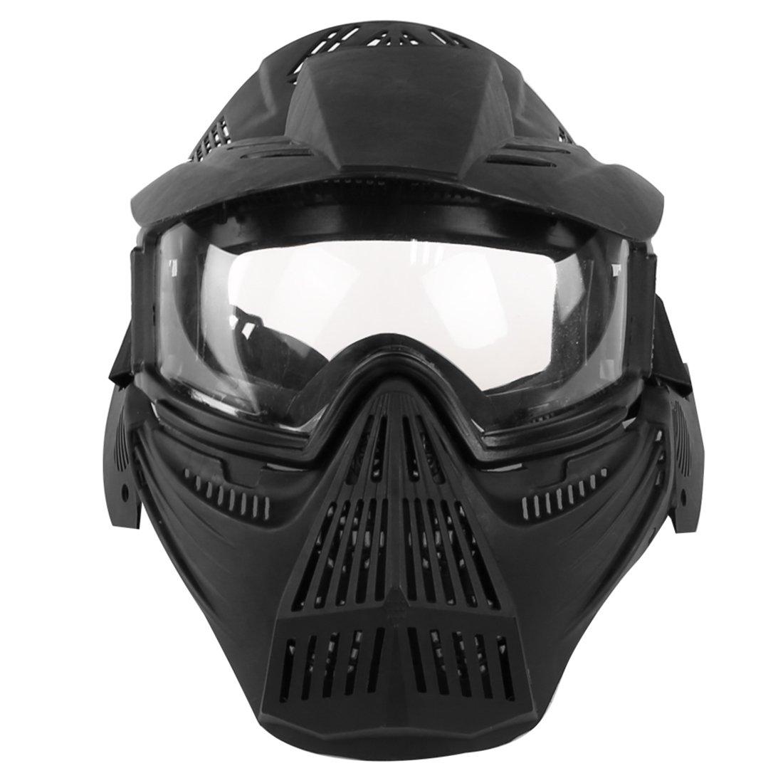 YVSoo Máscara Táctica Airsoft, Máscara Facial Táctica Protectora Máscara Casco para Nerf CS Juego,Paintball,Airsoft,Cosplay (Negro)