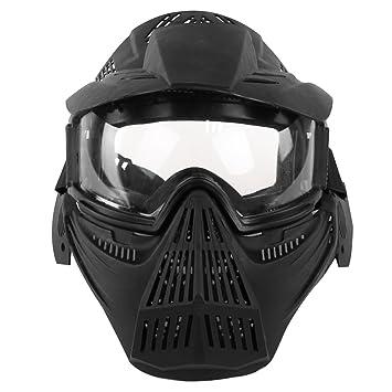 YVSoo Máscara Táctica Airsoft, Máscara Facial Táctica Protectora Máscara Casco para Nerf CS Juego,Paintball,Airsoft,Cosplay (Negro): Amazon.es: Deportes y ...