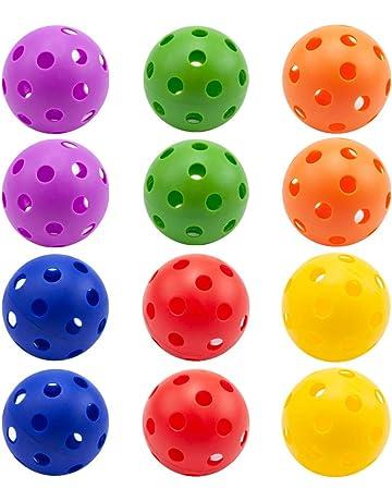 GSE Games & Sports Expert 12-Pack of Plastic Practice Baseballs | Indoor Pickleballs (