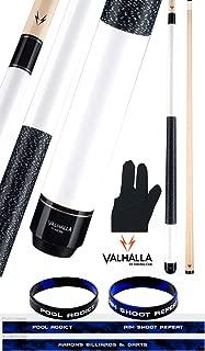 product image for Valhalla by Viking 2 Piece Pool Cue Stick White VA118 Irish Linen Wrap 18-21 oz. Plus Billiard Glove & Bracelet