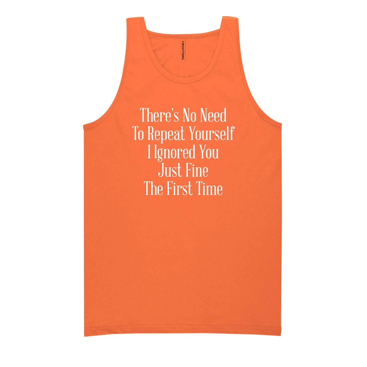 Theres No Need to Repeat Neon Tank Top
