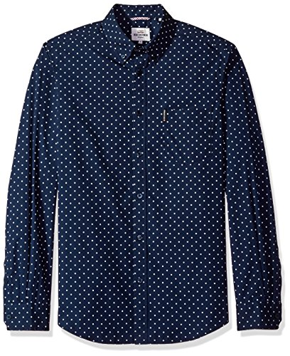 ben-sherman-mens-long-sleeve-classic-polka-dot-woven-navy-blazer-small