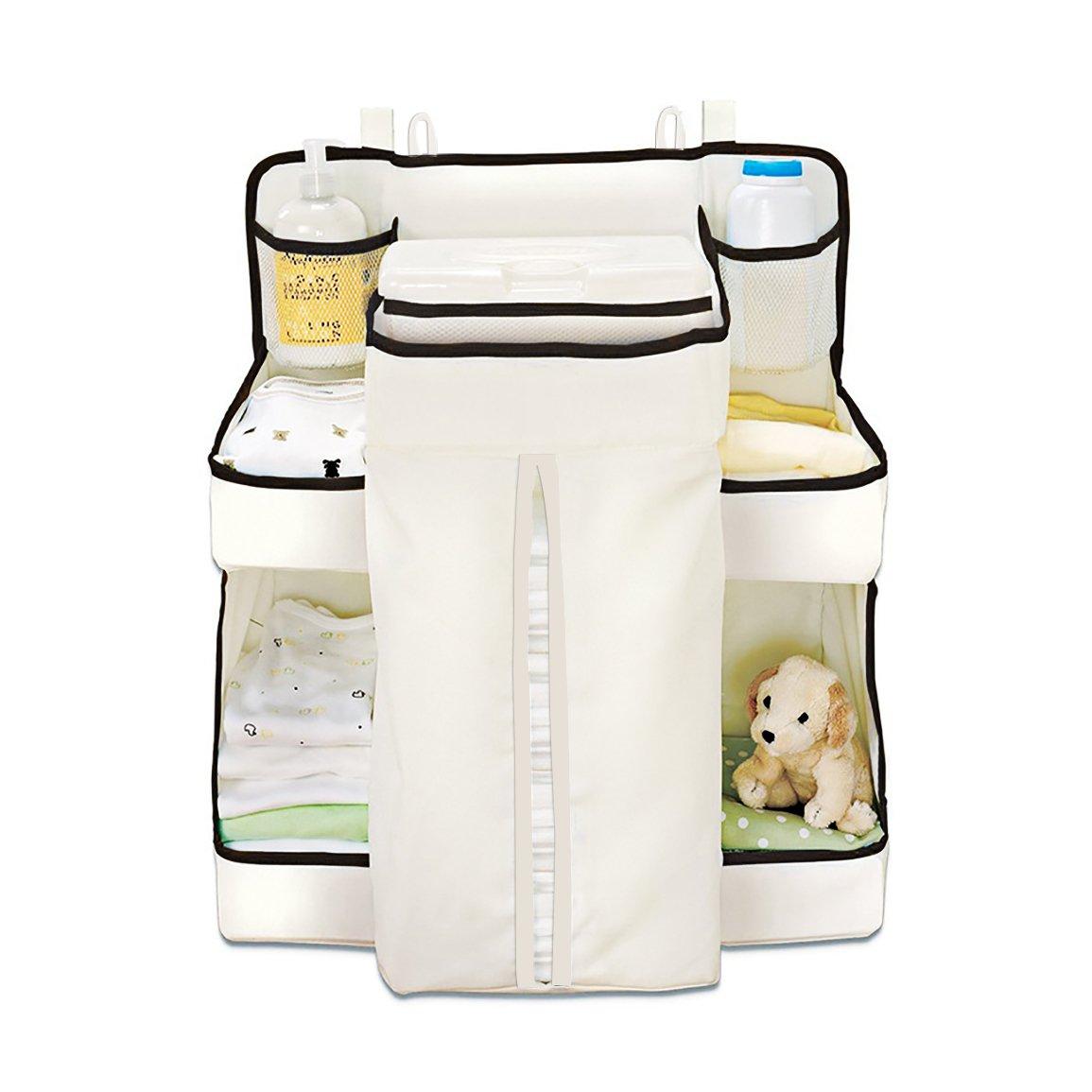 Baby Windelwechsel Organizer, Uong Windel Stackers & Organisatoren Baby Windel Kindergarten Organizer Bett aufhängen Bag mit 9 große Taschen