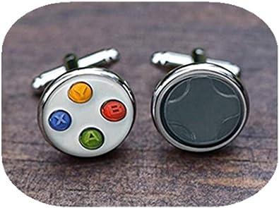 Leonid Meteor Gemelos para control de videojuegos, accesorios para hombres, adornos de cristal, hechos a mano: Amazon.es: Joyería