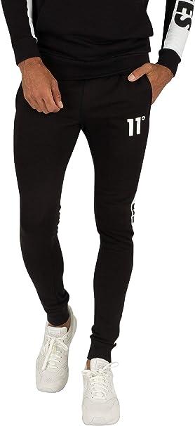 11 Degrees de los Hombres Pantalones de chándal Ajustados con ...