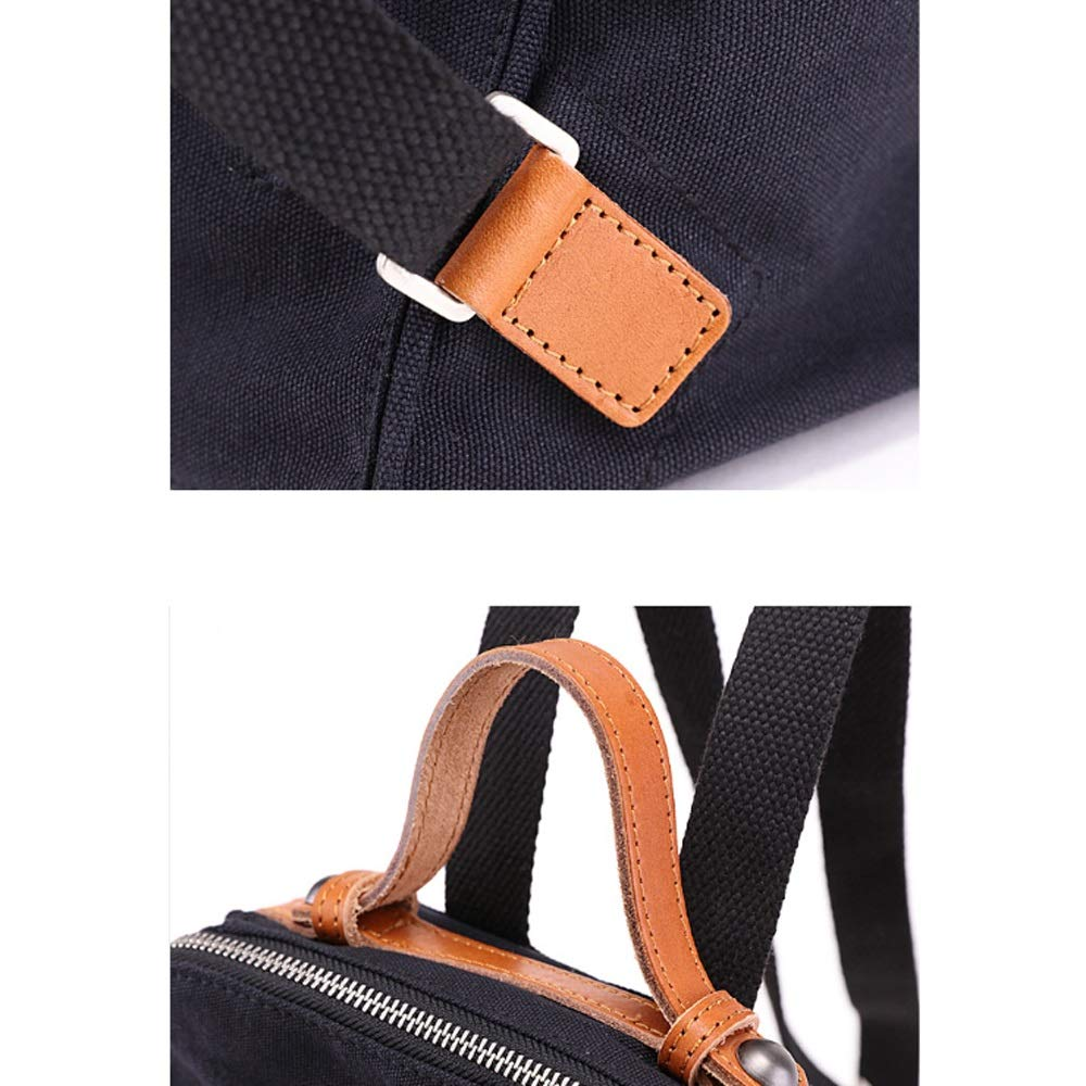 LILI-XB ryggsäck damryggsäck vintage kanvas 33 cm bärbar dator ryggsäck väska student sport vandring ryggsäck 7 L Ryggsäck handväskor 13 inch BEIgE BEIgE