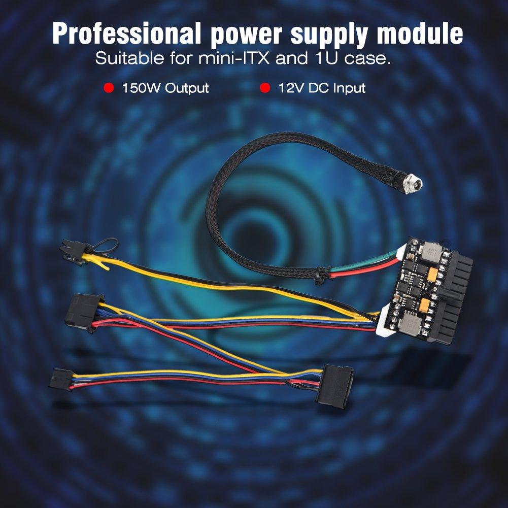 etc. Publicidad,Terminales Bancarias POS,Caja ITX 150W M/ódulo de Fuente de Alimentaci/ón para Mini-ITX y Estuche 1U 24 Pines Power Supply Module Profesional 12V DC para Computadoras Mini