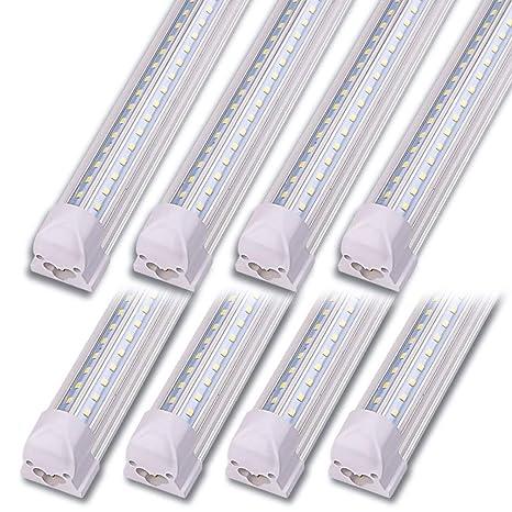 newest f052b fdb06 Kihung LED Shop Light 4ft, V Shape T8 LED Tube Light Fixture, Integrated 4  Foot Led Bulbs, 40w 5000 Lumens 6000K Cool White, 8-Pack