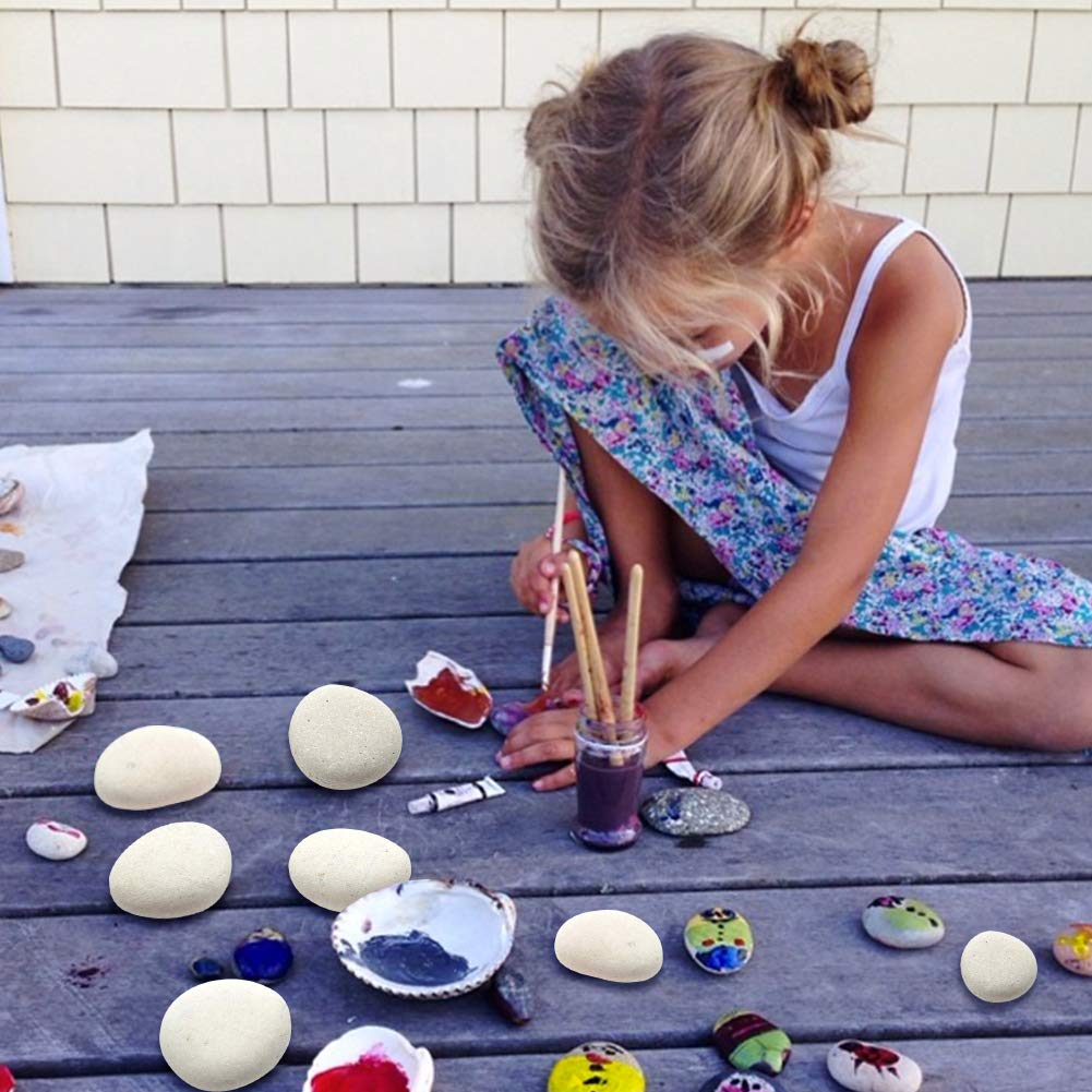 BigOtters Painting Rocks, 25 Rocks for Painting Kindness Rocks Range from About 2 to 3 inches, About 6.8 pounds of Rocks