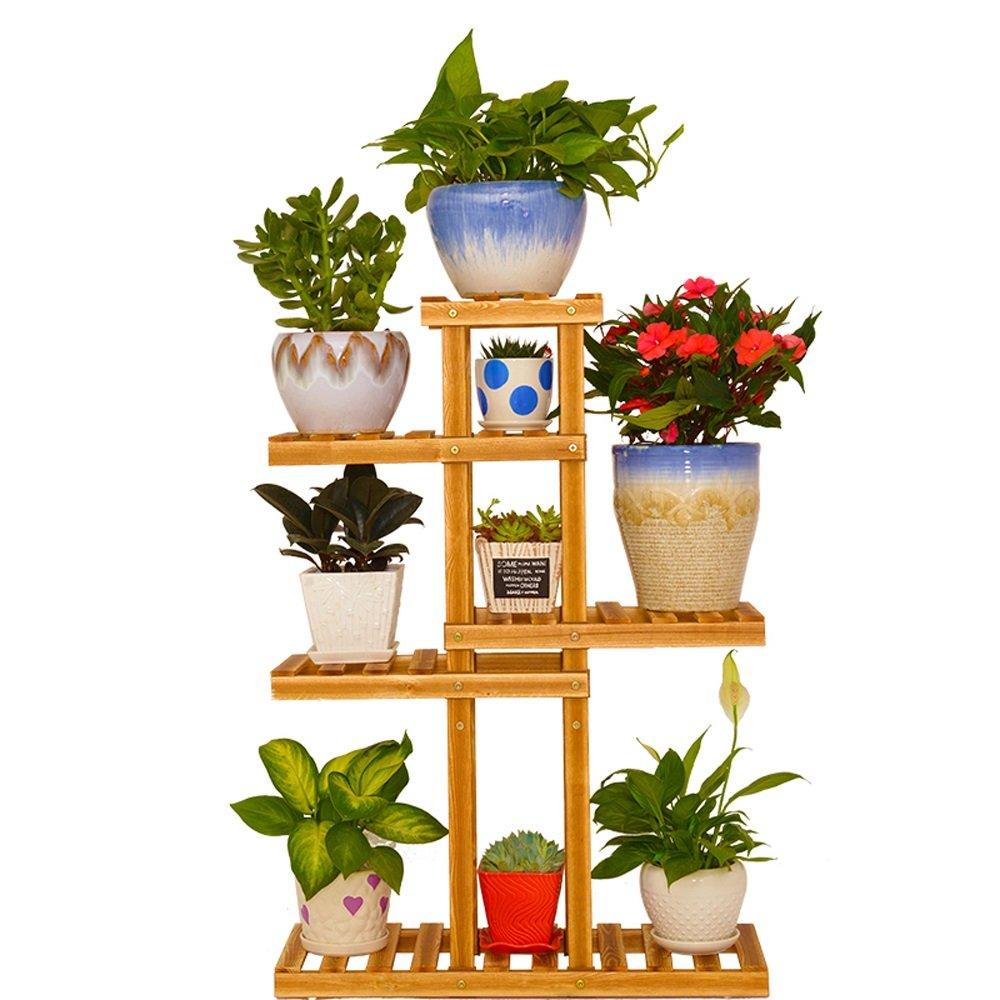 AJZGFStand per espositori per Esterni Indoor Cremagliere a più Strati del Vaso della pianta del Balcone del Salone di Legno Solido, scaffali Moderni multifunzionali del Fiore della pianta.