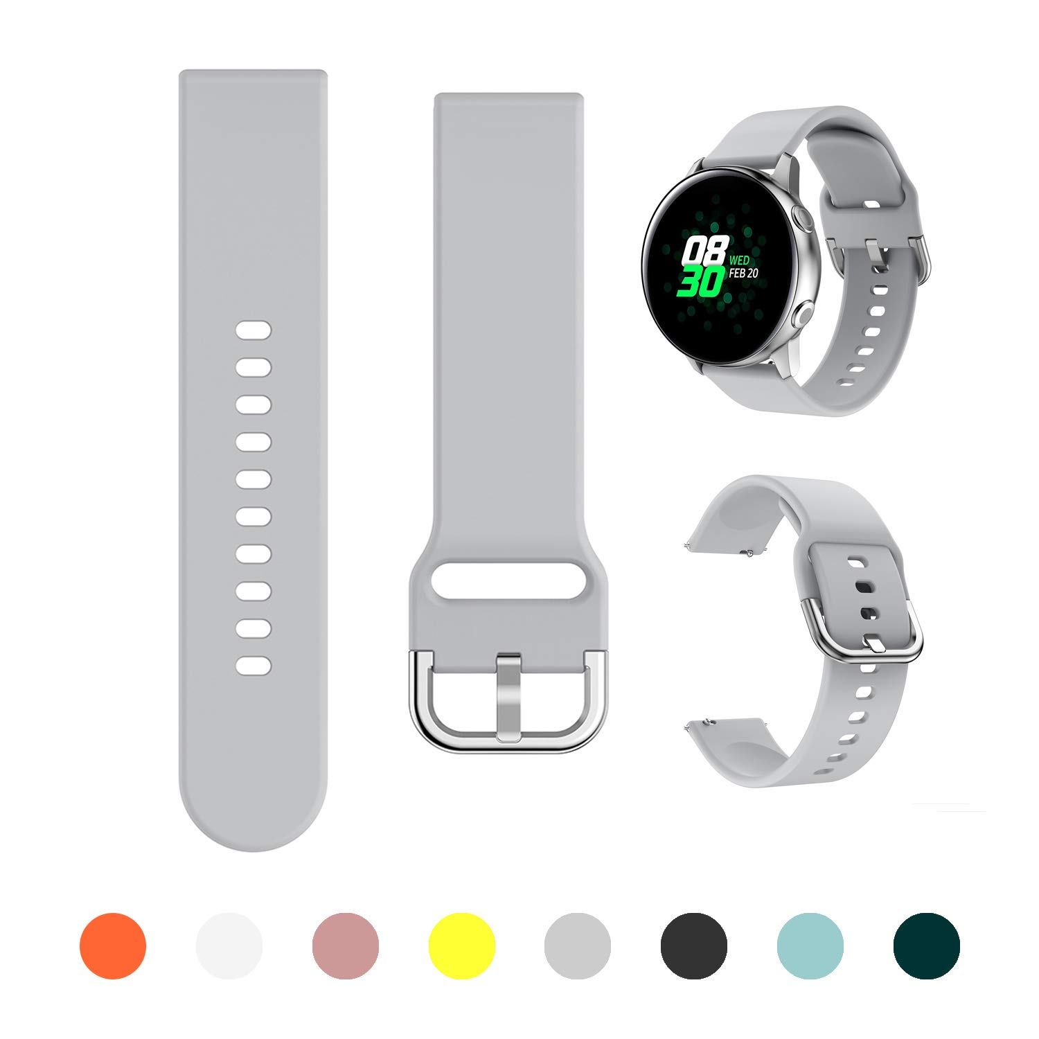 Malla Para Galaxy Watch Active/active2 40mm/44mm gris