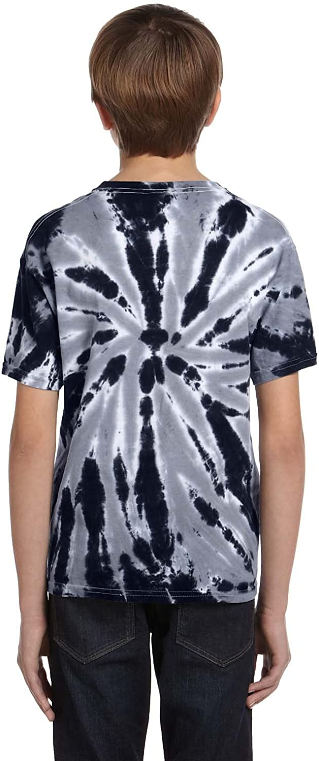 Navy44; Large Tie Dye H1100B Youth Twist Tie-Dyed Tee