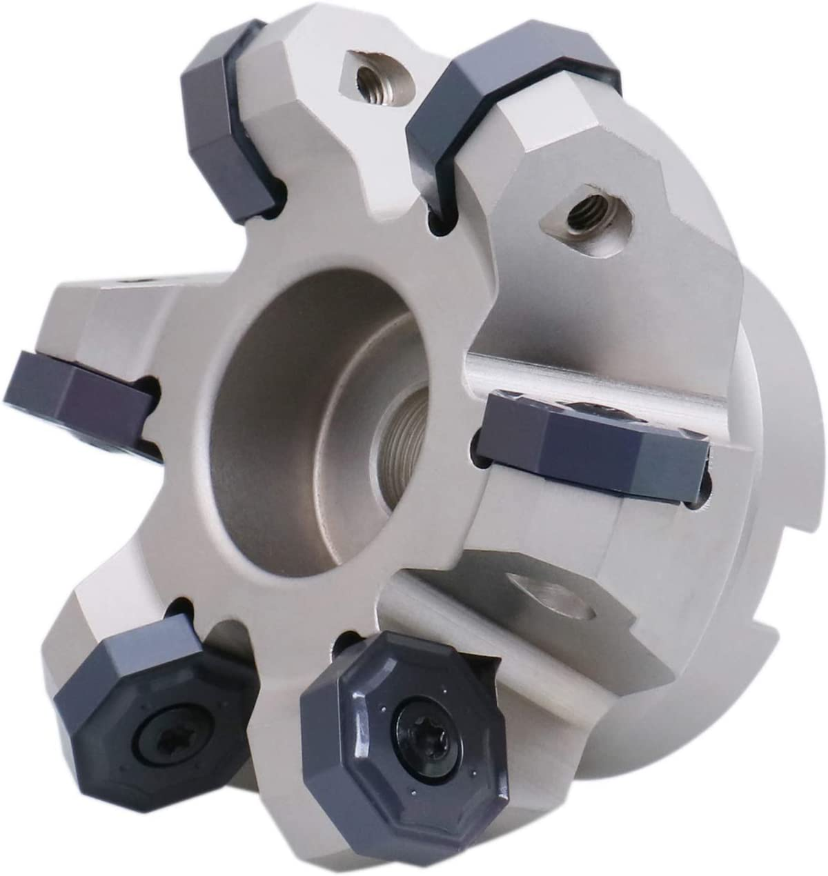 3300-1629 with Onhu0800608 Insert Accusize Industrial Tools 45 Degree Indexable Face Mill for Octagonal Double Side 16 Cutting Edge Insert