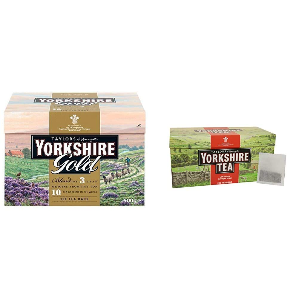 Taylors of Harrogate Yorkshire Gold, 160 Teabags & Yorkshire Red, 240 Teabags