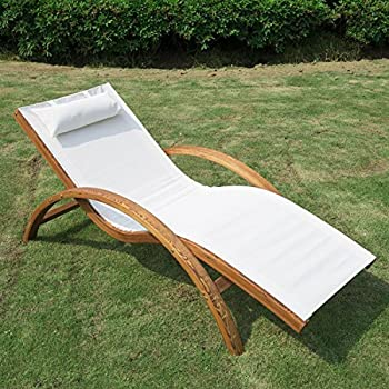 Amazon Com Outsunny Mesh Outdoor Chaise Lounge Chair