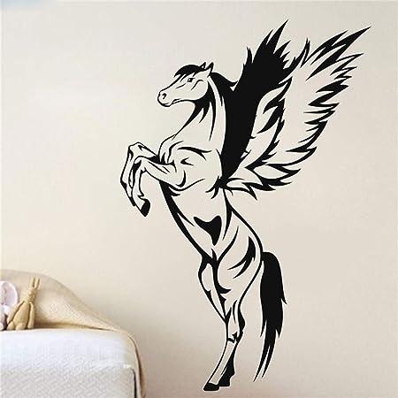 guijiumai Pegasus Pegatinas de Pared Animal Horse Decoración para ...