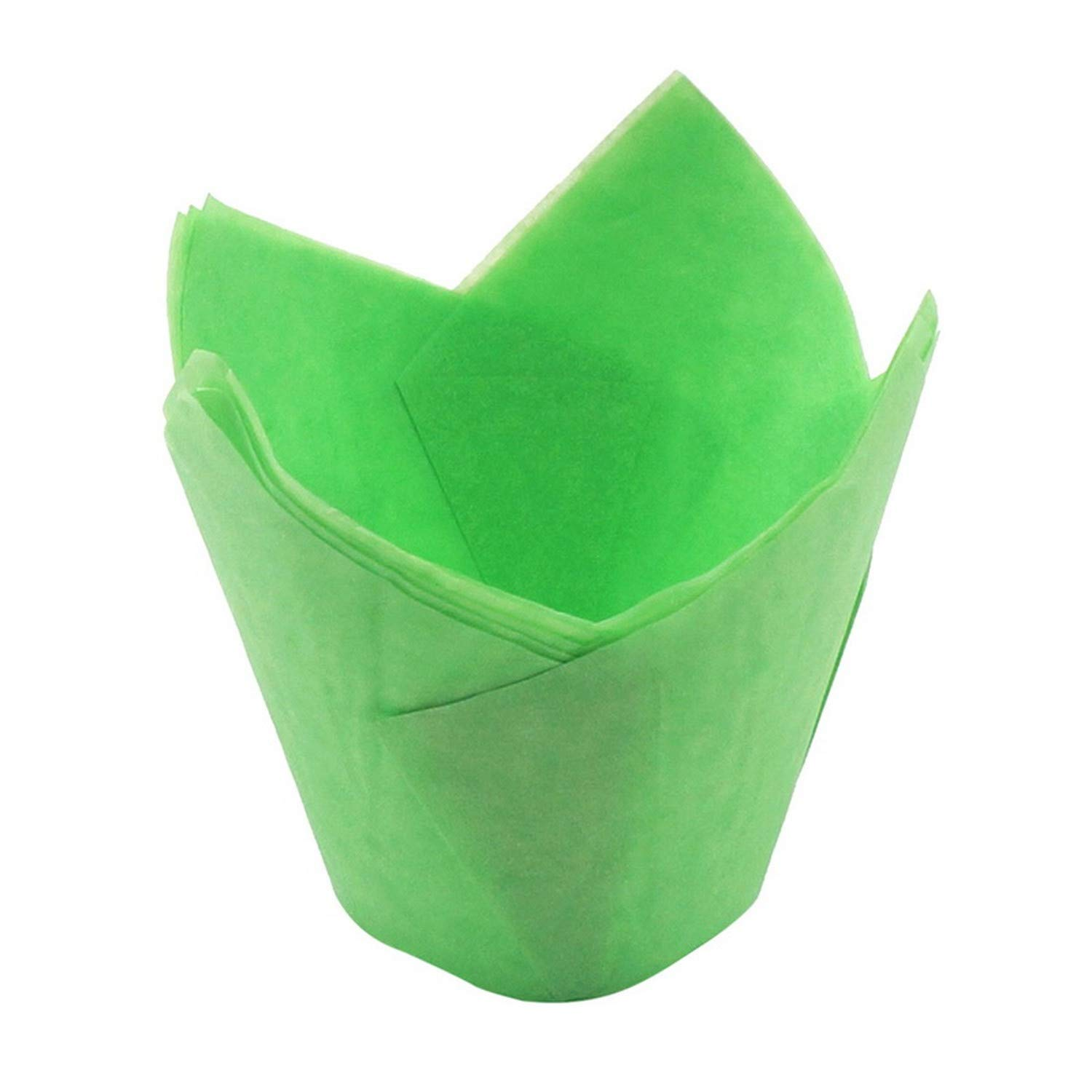 Hoomall 50Pcs Cake Liners Muffin Cup Cute Baking Wrapper Not Sticky Christmas Tool New Cupcake Paper Greaseproof Wedding Party,Green by Yinshizhu21