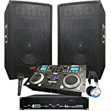 Complete Dj System - 2100 WATTS - Connect your Laptop, iPod, USB, MP3\'s or Cd\'s! 12\