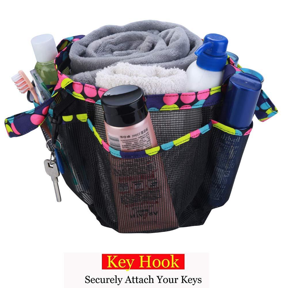 Kedera Portable Mesh Shower Caddy, 8 Basket Tote Bathroom College ...