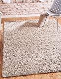 Unique Loom Solid Shag Collection Taupe 5 x 8 Area Rug (5' x 8')
