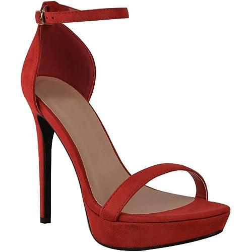 06d515f0 Fashion Thirsty Mujer Plataforma Alta Tacón Aguja Sandalias Sexy Fiesta  Baile Zapatos Talla Nuevo: Amazon.es: Zapatos y complementos