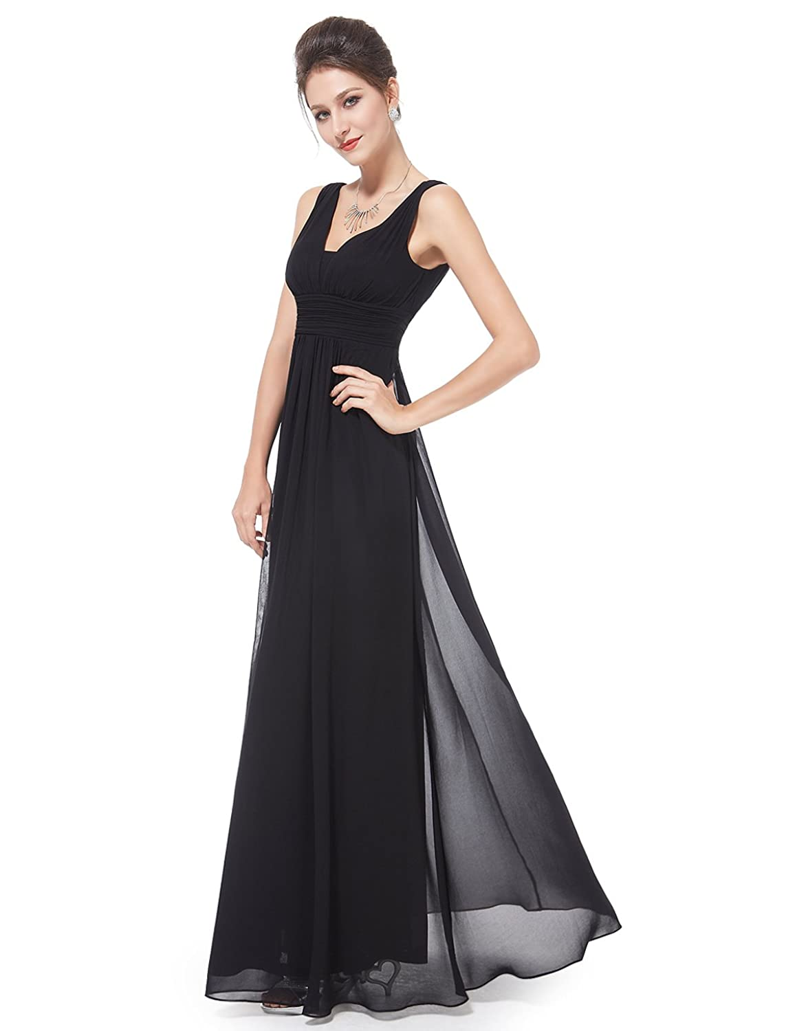 Ever Pretty Double V-Neck Ruched Waist Ladies Long Evening Dress 08110   Amazon.ca  Clothing   Accessories 4065163eb