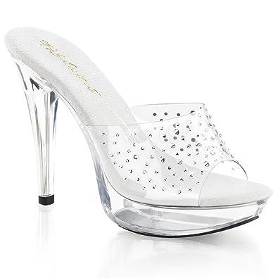 """COCKTAIL-501RS Women's 5"""" Heel 1"""" Platform Slides"""