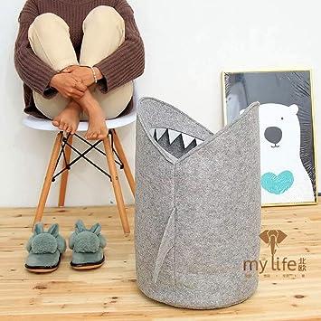 Amazon.com: HILTOW Cesta plegable de tiburón para ropa sucia ...