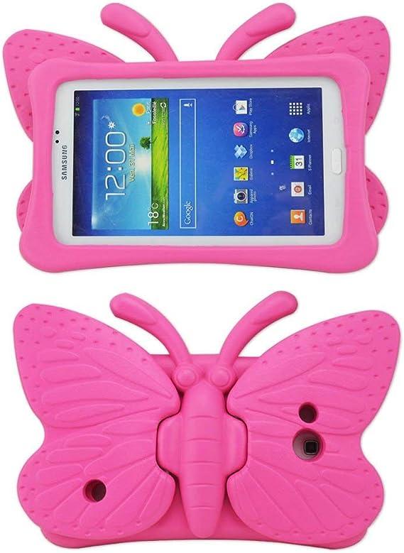 Funda para Galaxy Tab 4 para niños, Tab 3 Lite, no tóxica, de espuma EVA ligera y resistente a los golpes, con función atril para tabletas Samsung de 7 pulgadas Tab 3/Lite