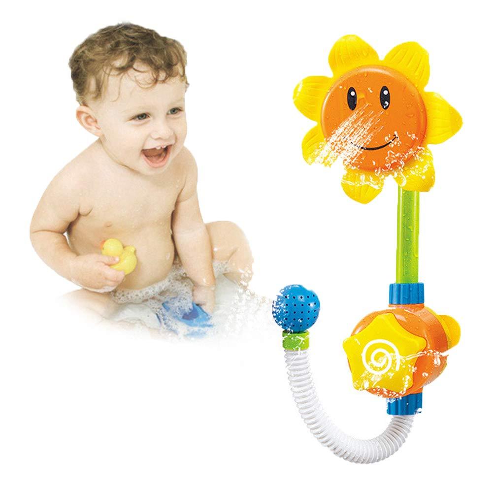 JoyFan Stazione di spruzzatori per doccia con girasoli Vasca per bambini Giochi per bagnetti per bambini 1pz