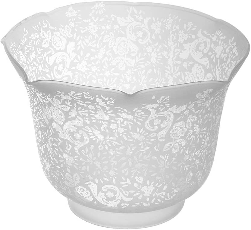 Victorian Lace Filigree Gas Shade With 4 Fitter