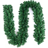 Zhongmin Artificial Pine Branch Garland Bendable Pinecone Garland 106'' Long Ideal for Christmas Decoration (300T)