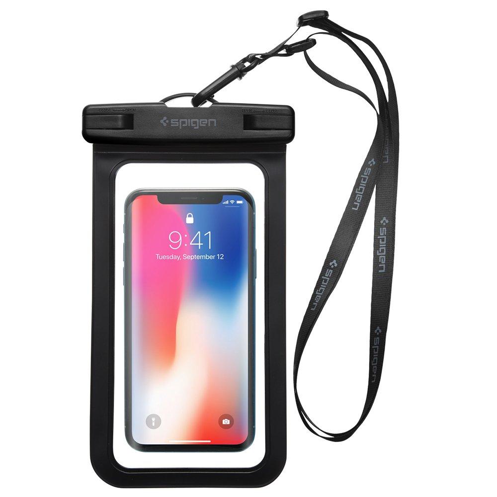 Spigen Universal Waterproof Case Pouch Dry Bag for Cell Phone & Accessories Compatible with iPhone X / 8/8 Plus / 7/7 Plus/Galaxy S9 / S9 Plus / S8 / S8 Plus/Google Pixel/LG G7 / G6Spigen Un 000EM21018