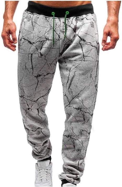Candiyer Mens Fashion Close Bottom Waist Tie Casual Trim-Fit Sweatpants
