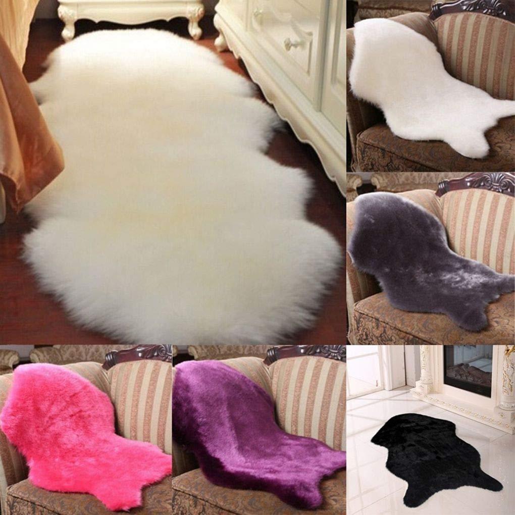 Floridivy Home Office Decoration Faux Pelle di Pecora Carpet Ultra Molle Poltrona Copertura Tappeti Caldo Hairy Carpet fondello