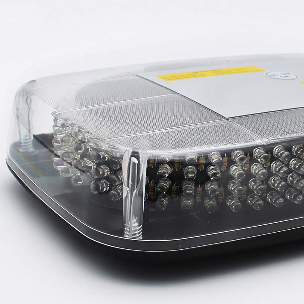 PoJu LED Rundumleuchte Warnleuchte AMBOTHER/® Warnlicht Alarm Licht Warnblinkleuchte Mit Magnetfu/ß Blinkleuchte KFZ 12V Gelb 240 LED