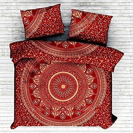 Sophia Art Exclusive King Size Rouge Ombre Mandala Housse De Couette
