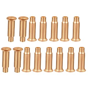 uxcell Tube Flare Fitting Copper Tube 5.2mm OD 3.2mm ID for Refrigeration Tubing 15pcs