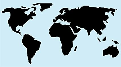 Amazon world map stencil for painting signs reusable 14 mil world map stencil for painting signs reusable 14 mil gumiabroncs Gallery